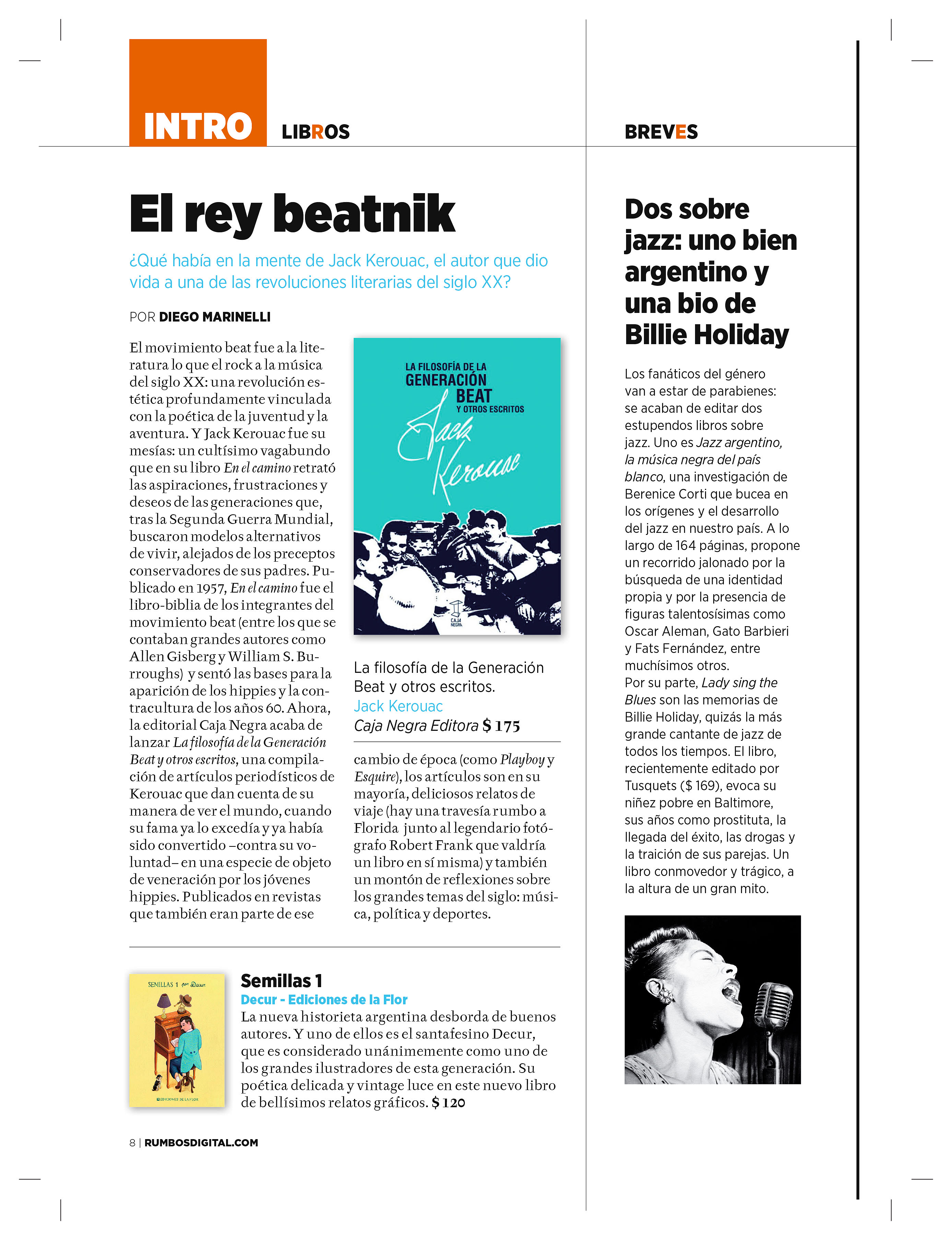Jazz en la revista Rumbos 25 y 26 de junio