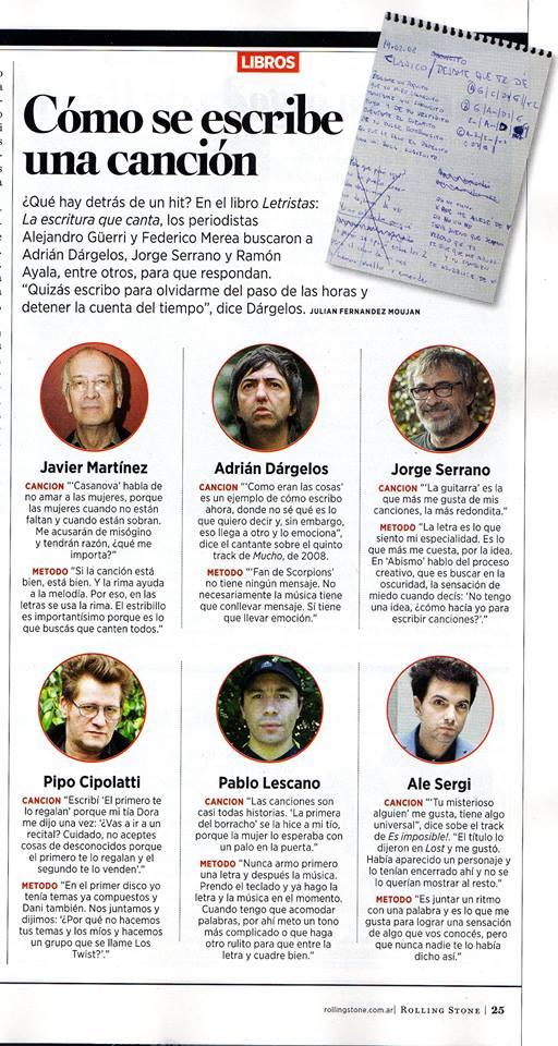 Letristas en Rolling Stones de julio