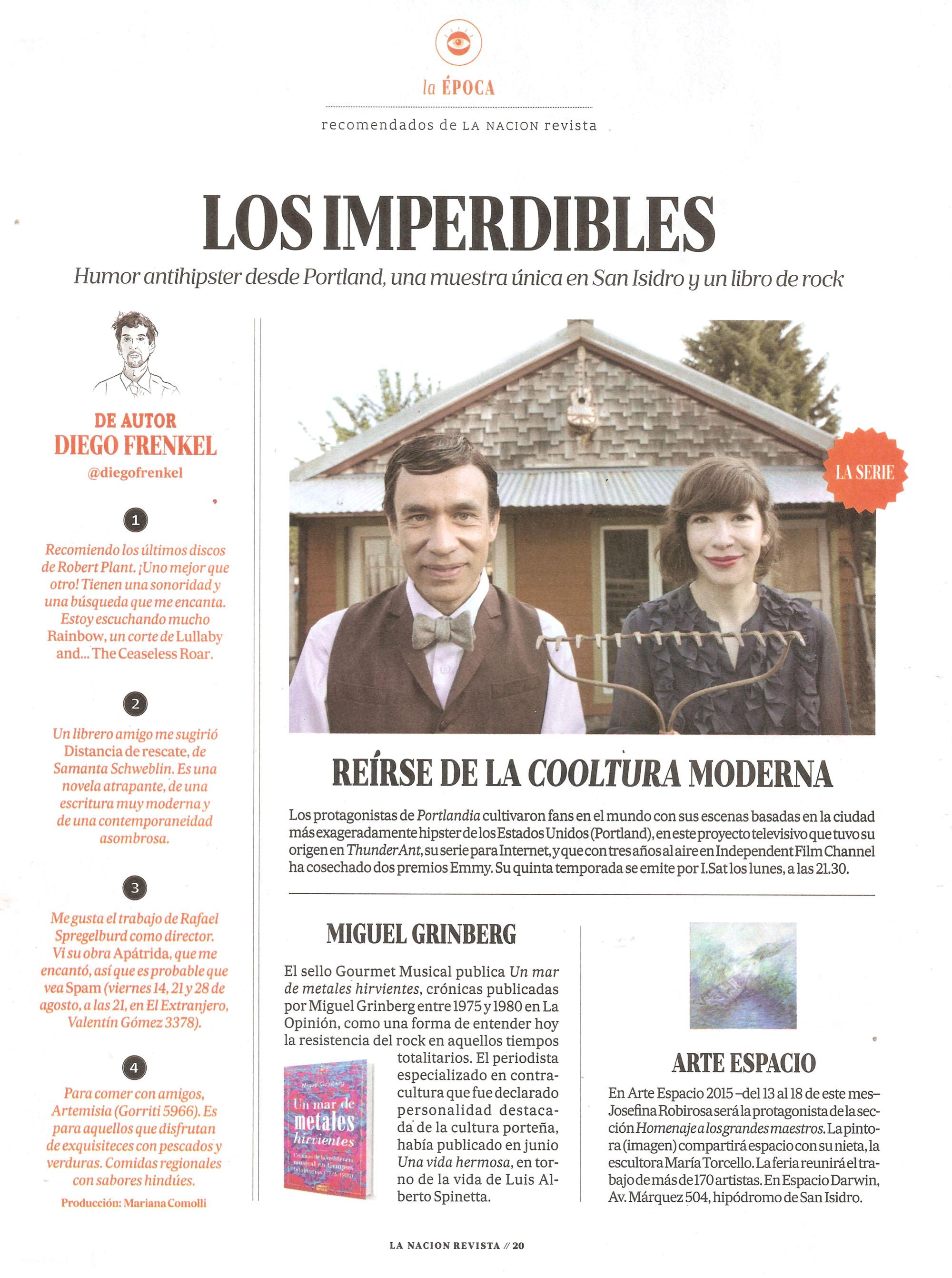 Un mar de metales en La Nación Revista domingo 9 de agosto