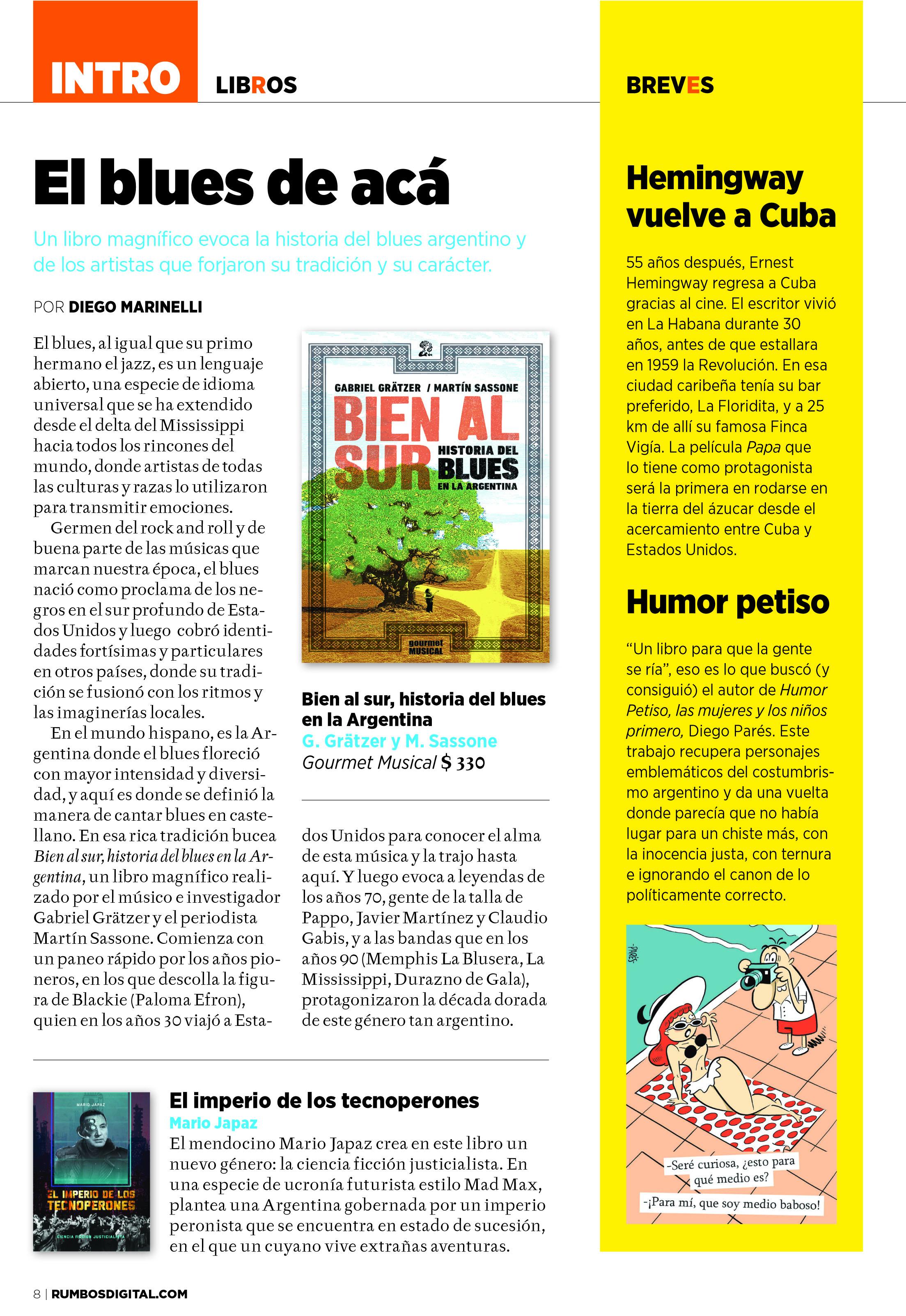 Bien al sur en la revista Rumbos 2 y 3 de enero copiar